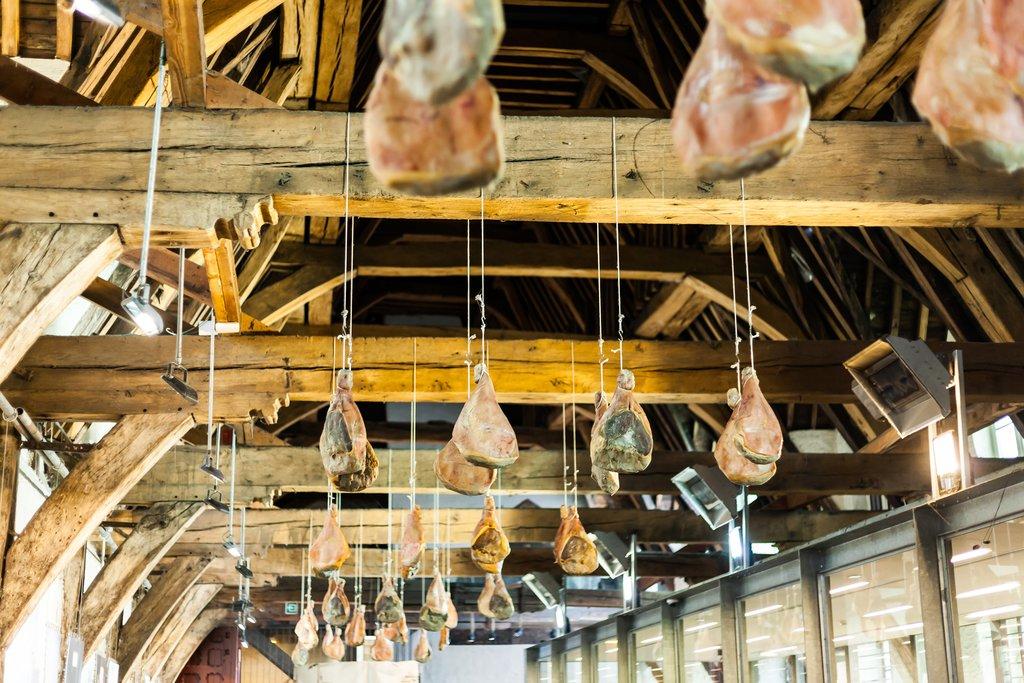 Dry cured hanging ham