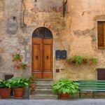 House facade in the village of Pienza