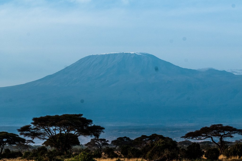 Amboseli National Park which is at the bottom of Mt. Kilimanjaro