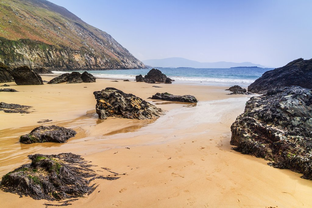 The soft sands of Achill Island's Keem Beach.