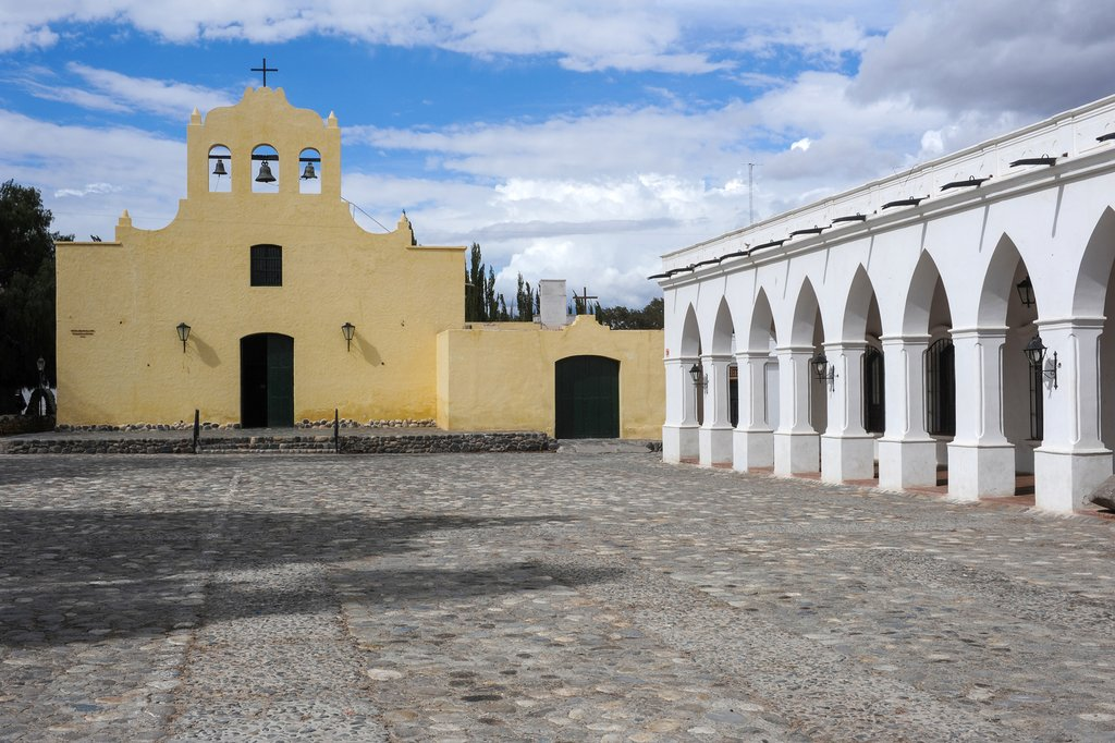 The town square, church, and museum in Cachi
