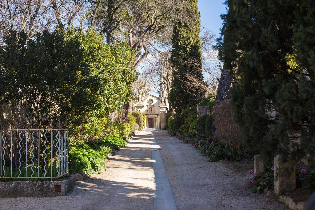 An alleyway leading to the monastery in St-Remy-de-Provence