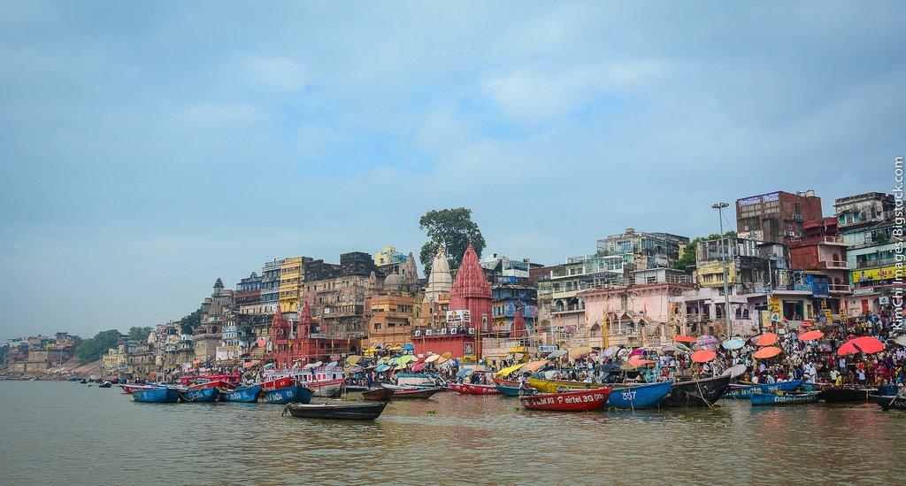 Varanasi on the banks of the Ganga