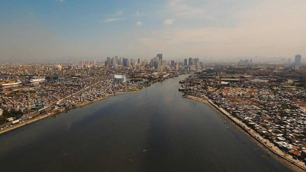 Aerial view of Manila, the Philippines