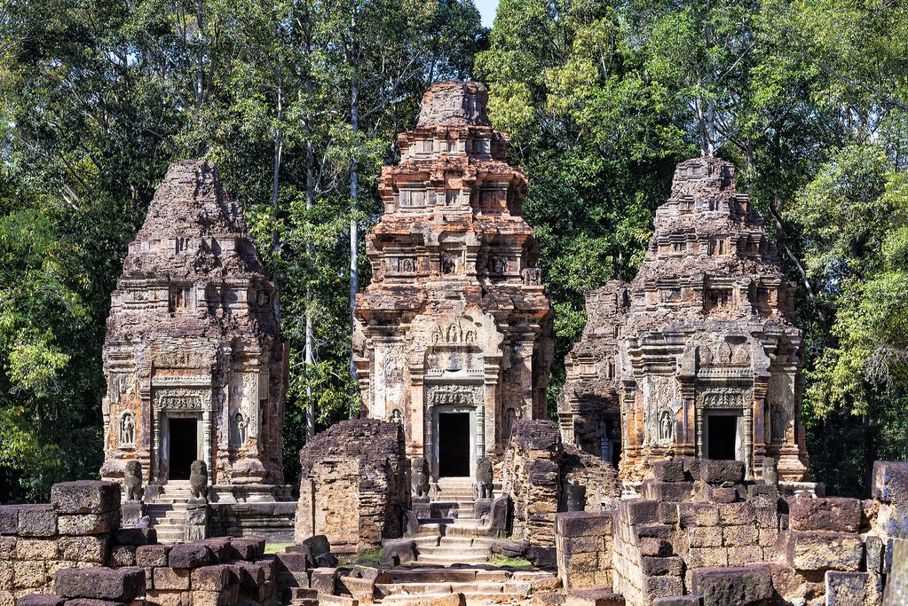 View of Preah Ko Temple from the Front