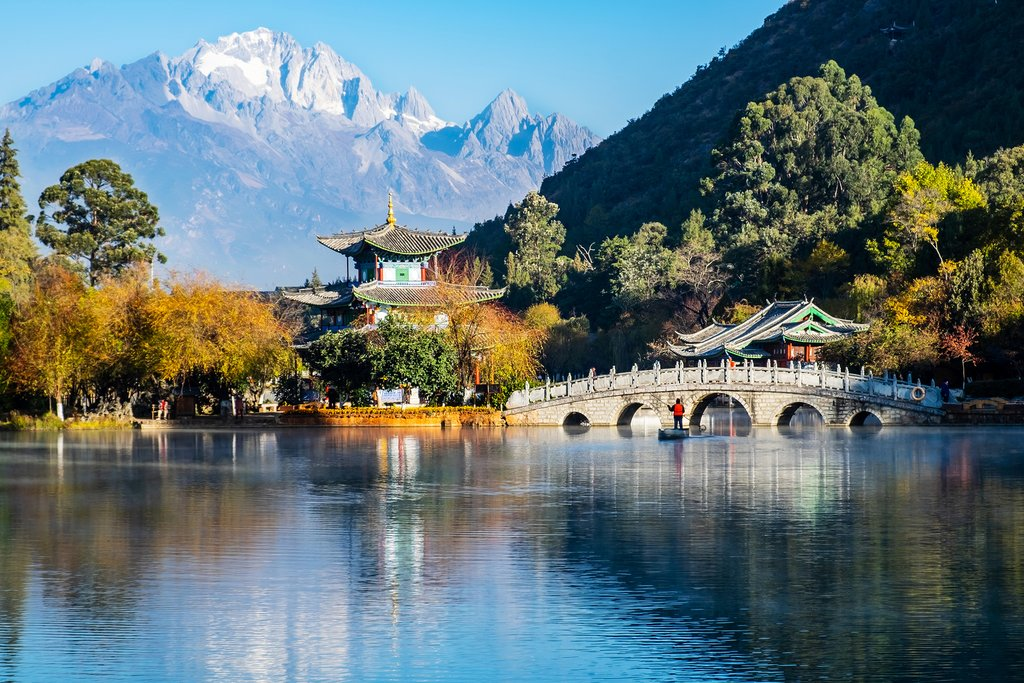 The Black Dragon Pool near Lijiang Ancient Town