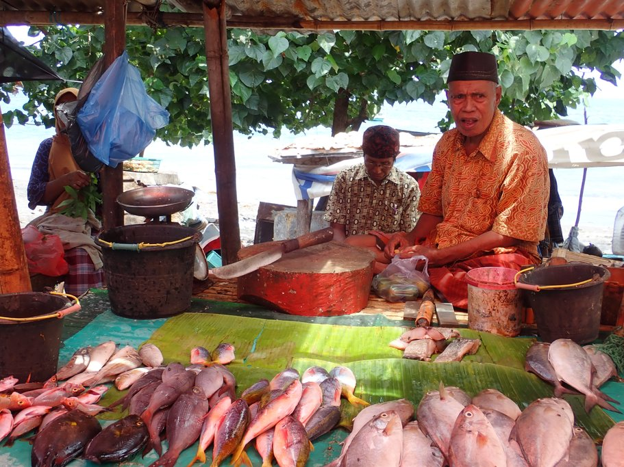 Local fish market in Ende