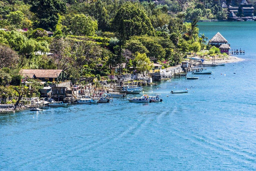 The lakeside town of Santa Cruz la Laguna.
