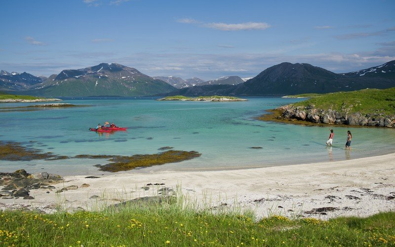 Cycle to the beach when you get settled in Tromsø