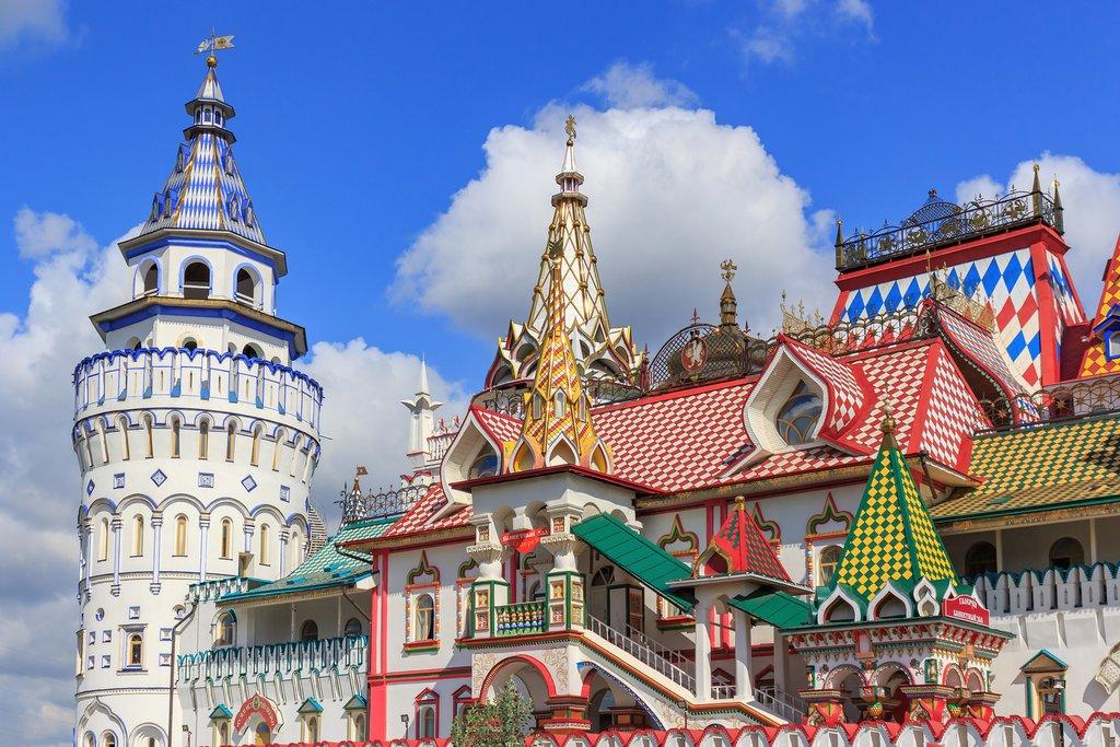 Colorful Buildings of the Izmailovsky Market