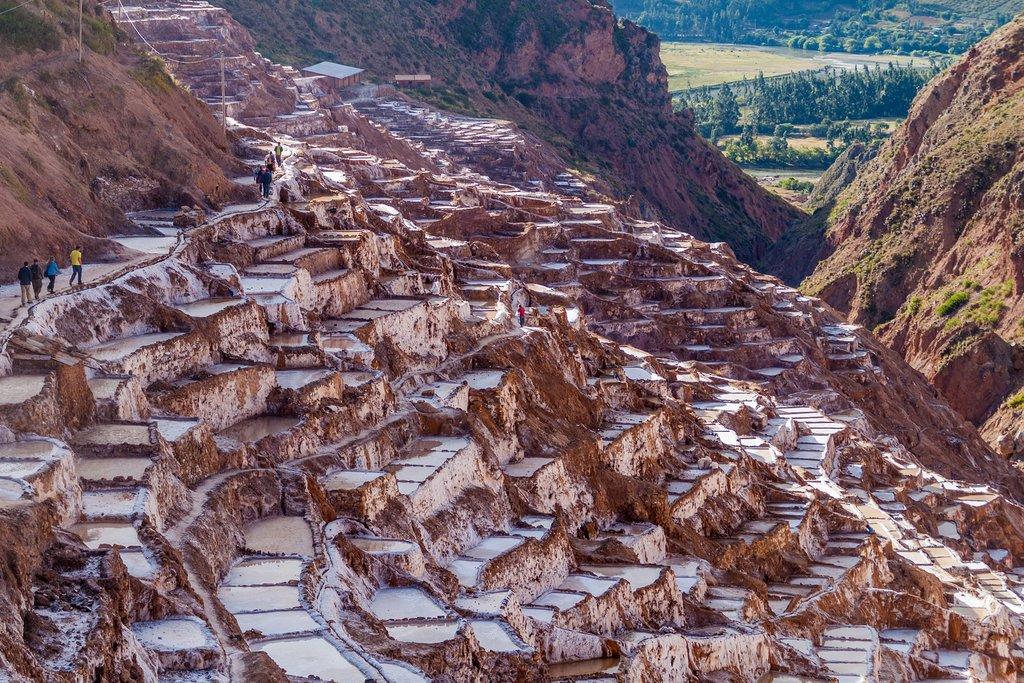 The terraced salt pools of Salineras.