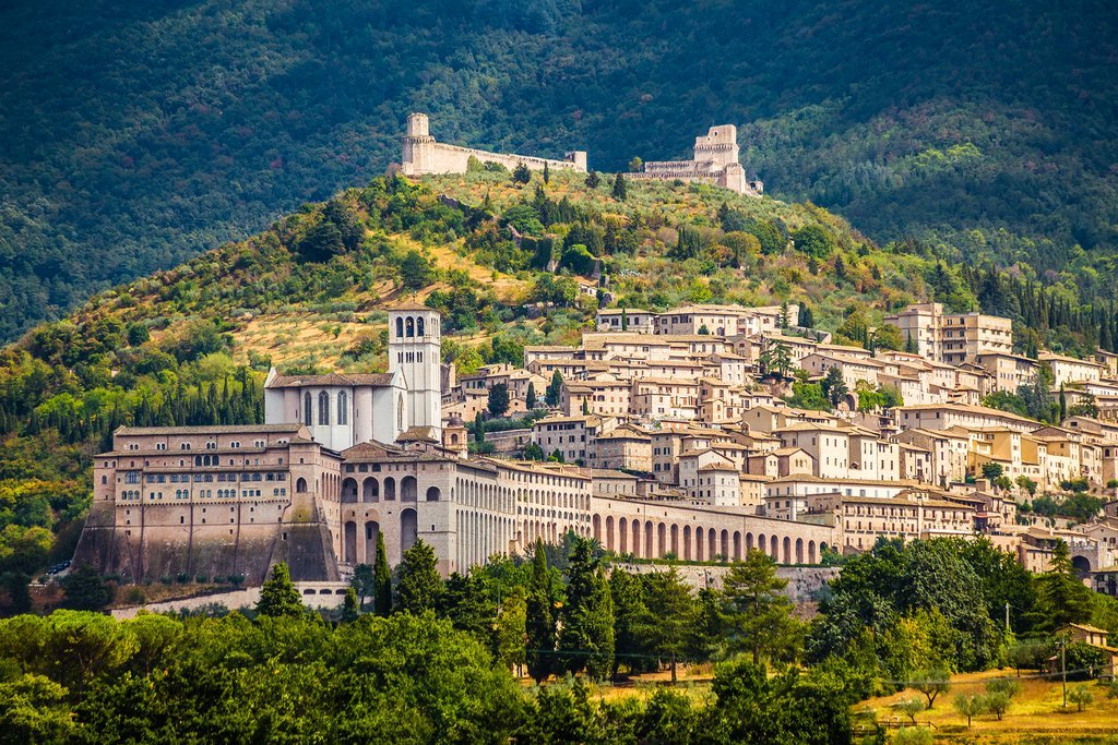 The exquisite hill town of Assisi, just 30 minutes east of Perugia.