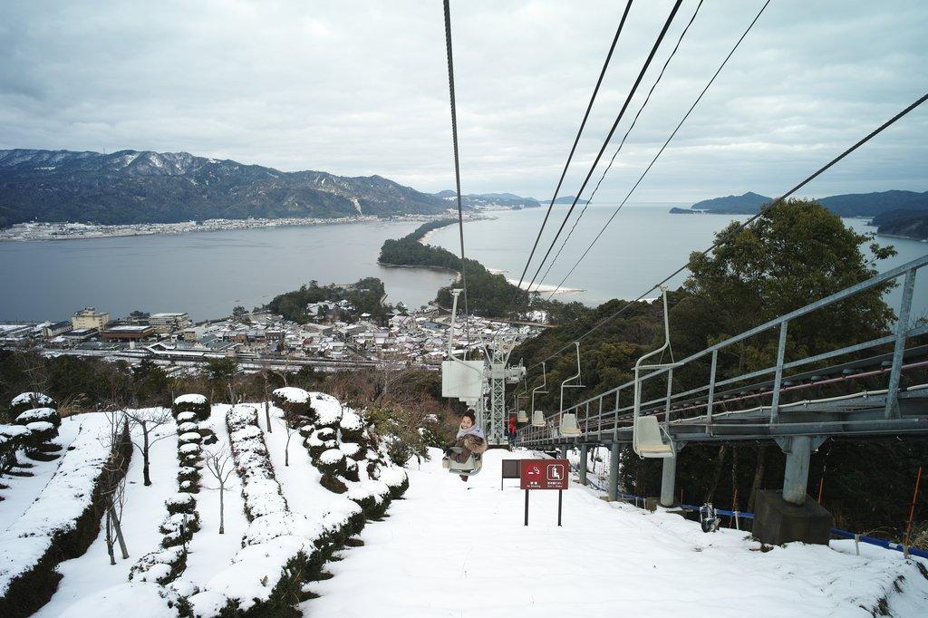 Amanohashidate in winter