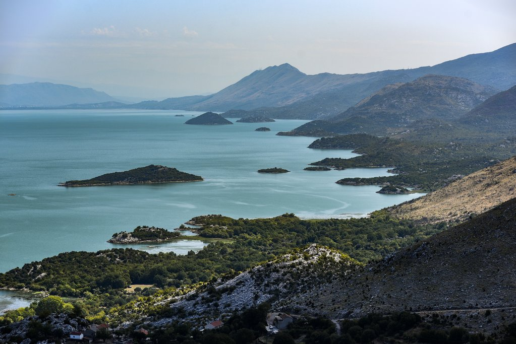 Rocky shoreline of Lake Skadar