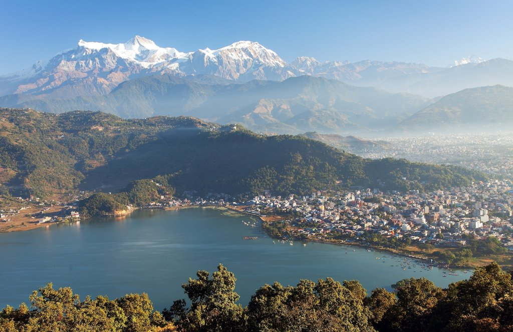 Panoramic view of Pokhara