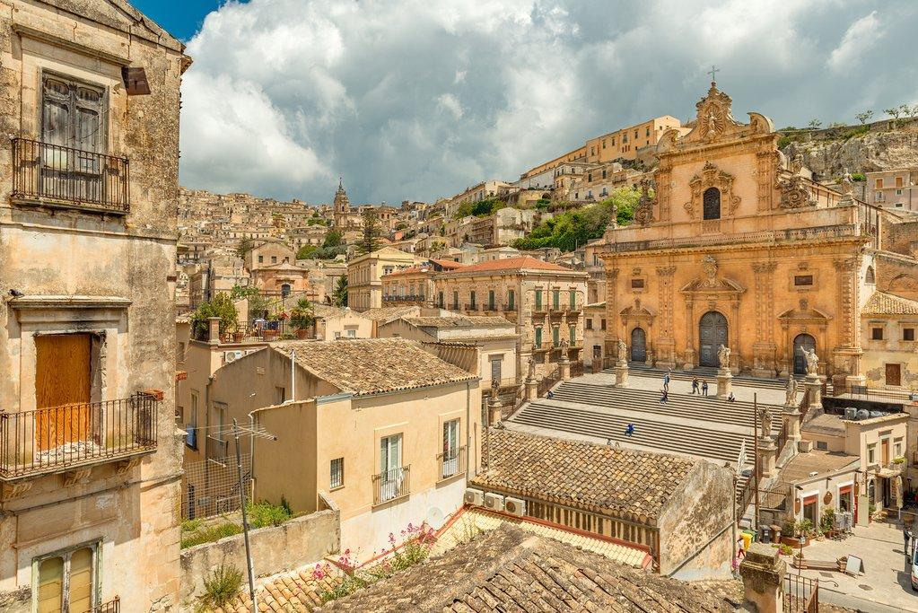 Cityscape of Modica, Sicily