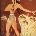 Ancient Minoan Fresco