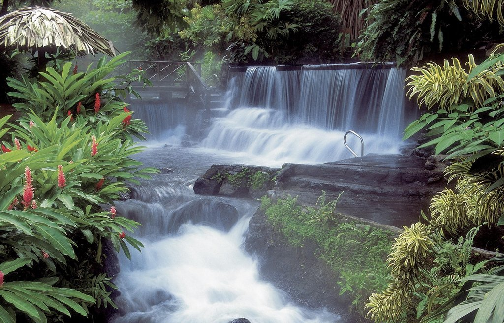 The mineral-rich, thermal waters of Tabacón Hotsprings.