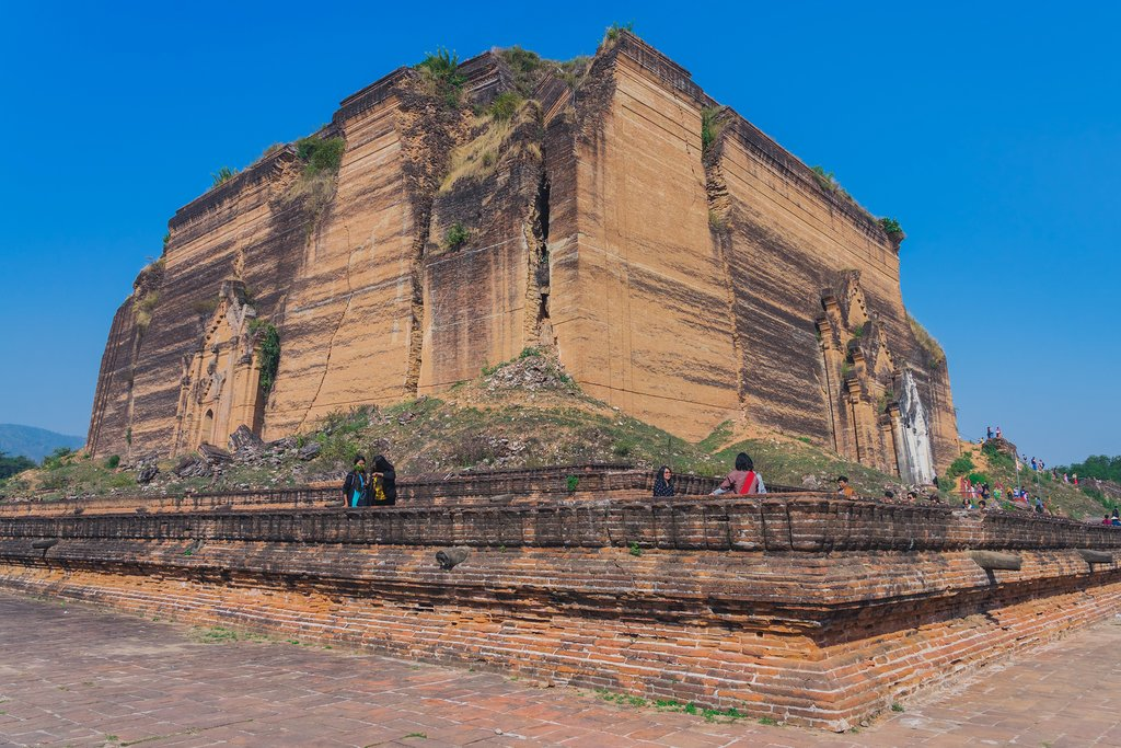 The ruins of Mingun Paya pagoda, Myanmar