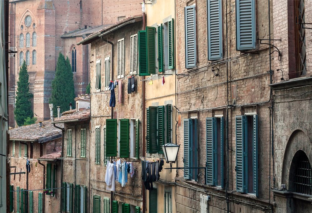 Brick houses in Siena