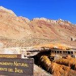 The Puente del Inca, a natural bridge near the border with Chile