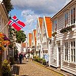 Wooden architecture in downtown Stavanger