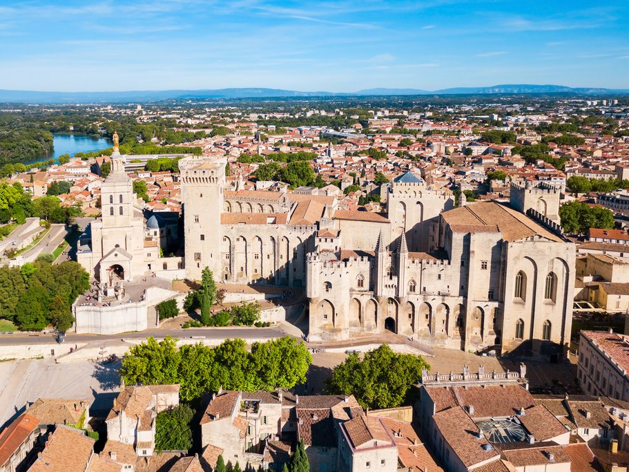 The Palace of the Popes, in Avignon