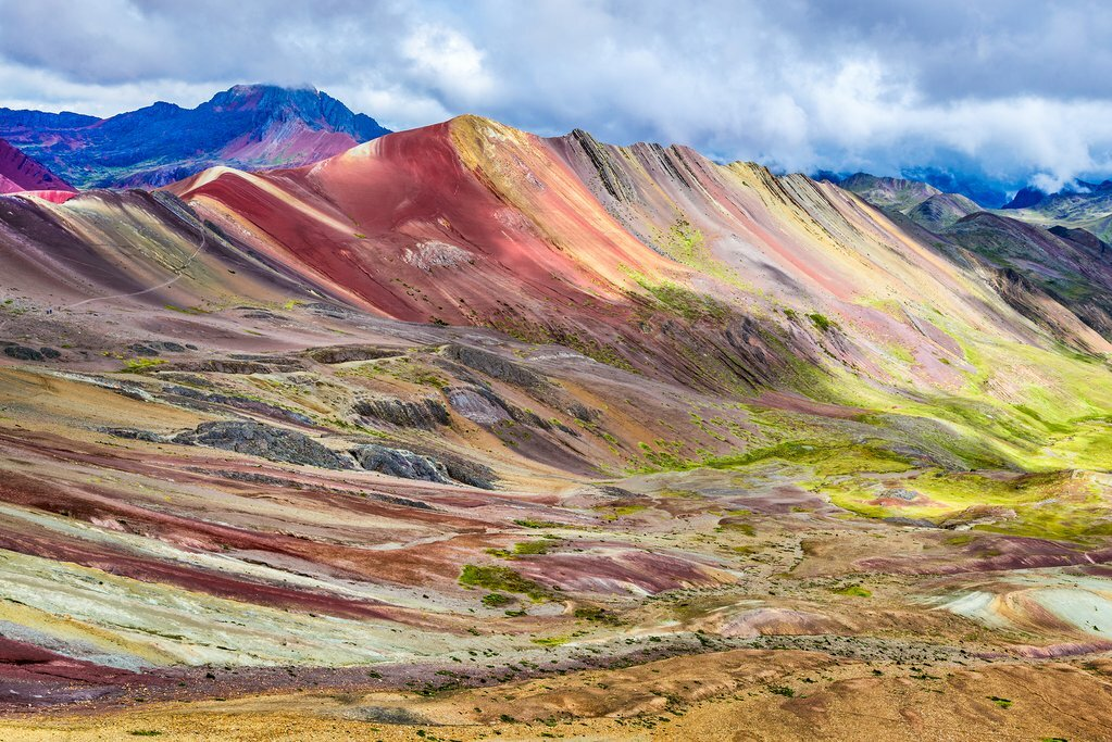 Rainbow Mountain in the Andes