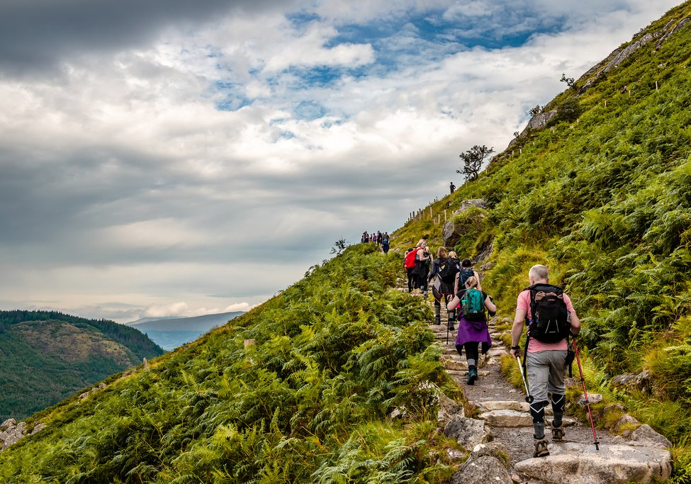 Hikers on the ascent to Ben Nevis.
