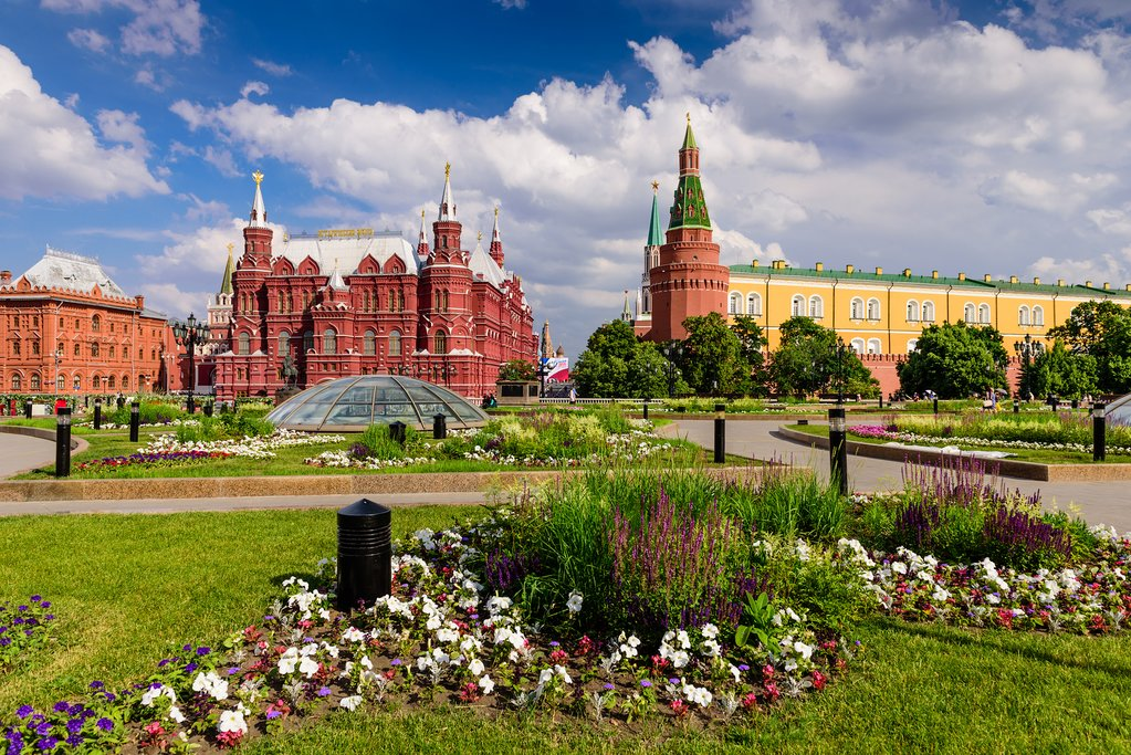 Views of the Kremlin in Moscow