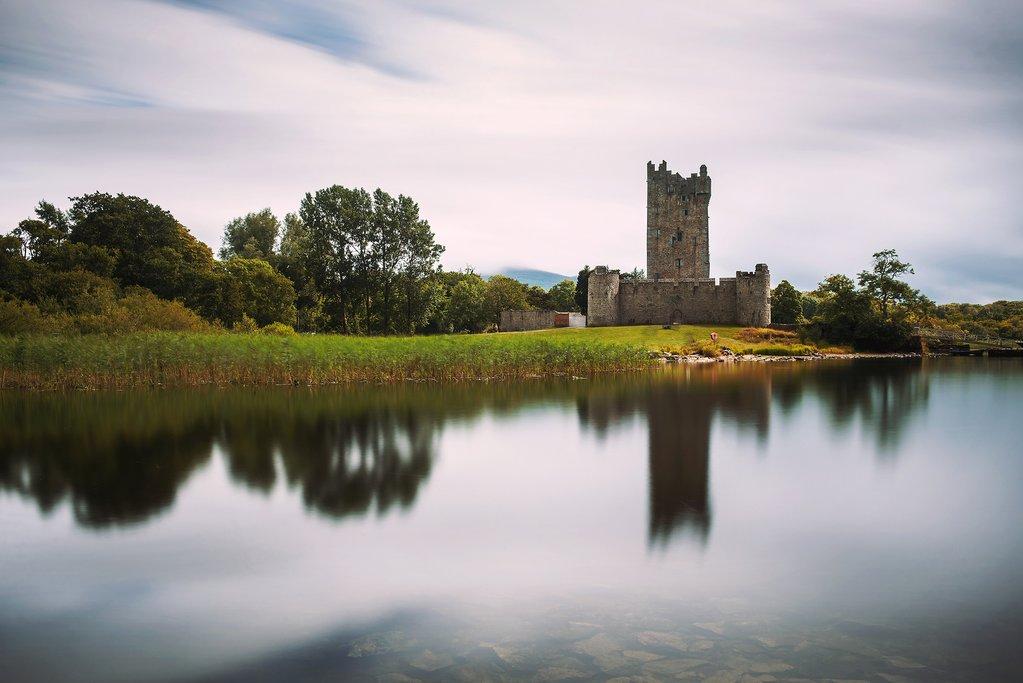 Ross Castle at the edge of Killarney National Park's Lough Leane.