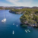 Paddleboard amid the Kornati archipelago