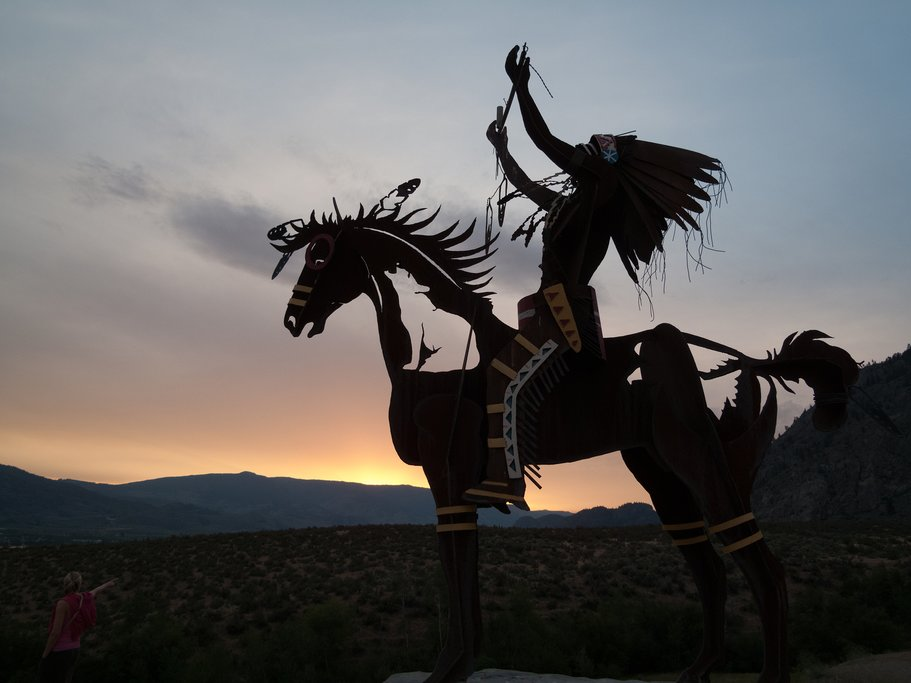 The Native Chief by artist Smoker Marchand in Osoyoos