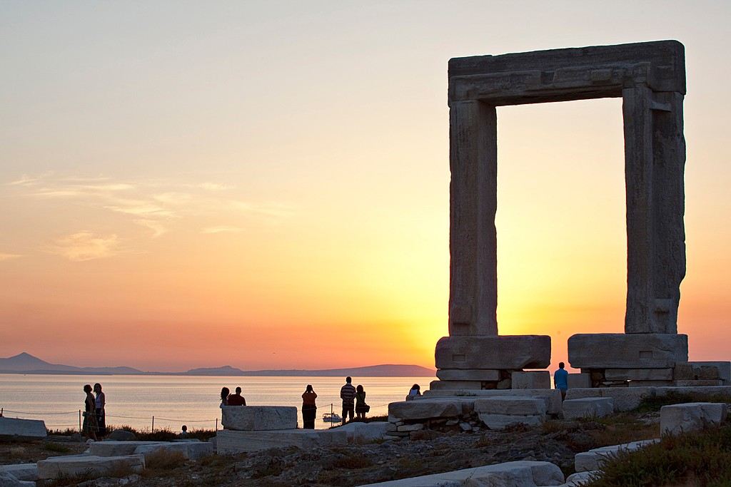 Portara at sunset
