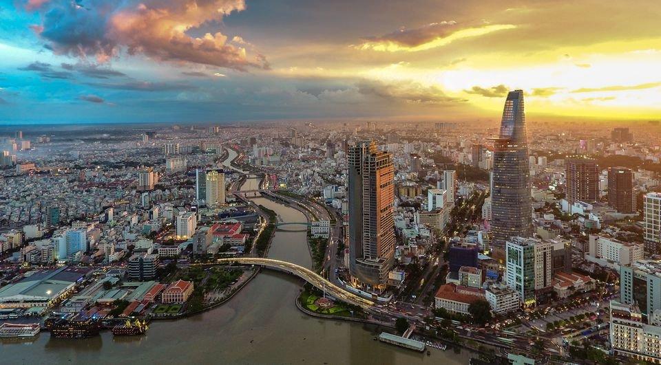 Sunset over Ho Chi Minh City