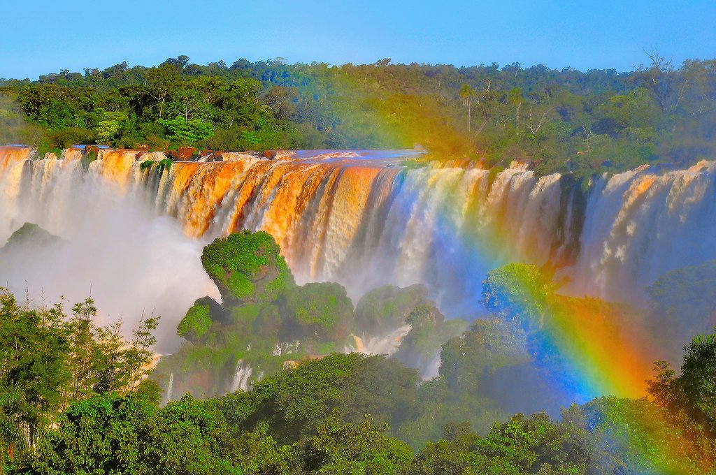 A view of Iguazu in the morning hours