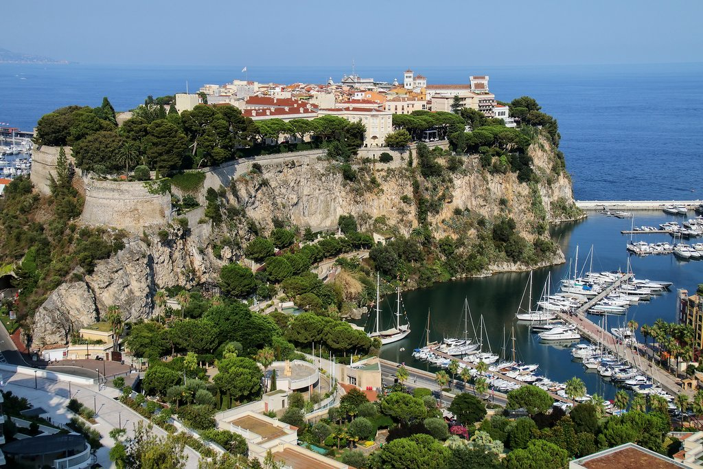 Dramatic landscapes in Monaco