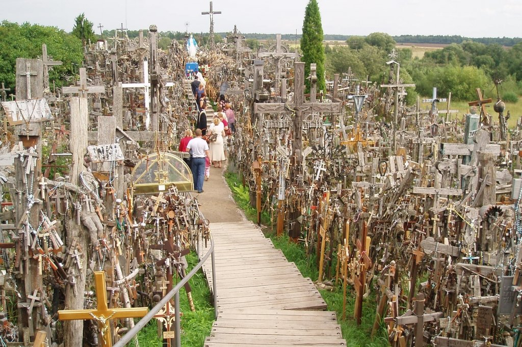 The Hill of Crosses is sacred to Catholics in Lithuania