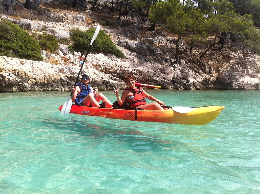 Kayaking the Calanques
