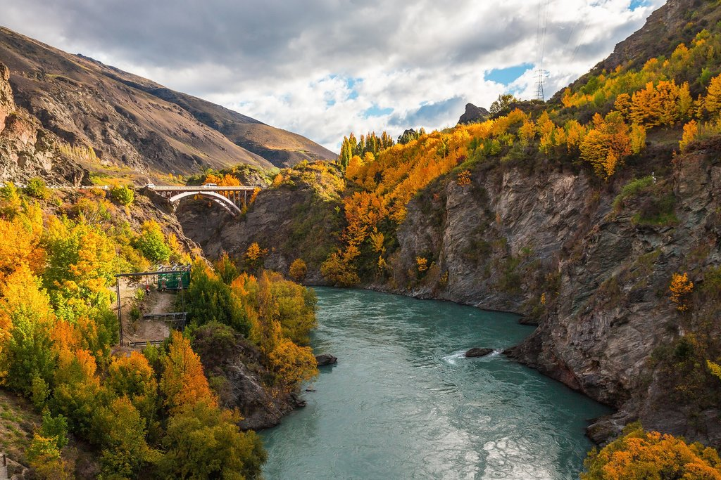 Scenic Shotover River in Queenstown