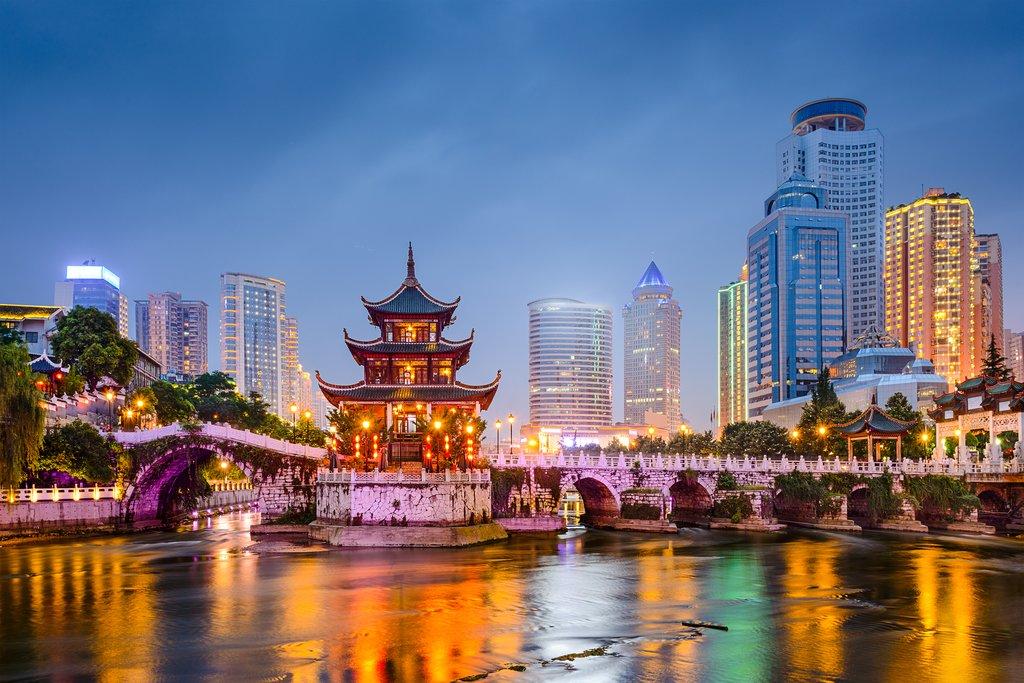 Guiyang Skyline at Night