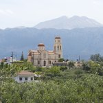 The town of Vamos, as viewed from olive groves