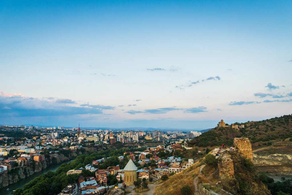 Aerial view of Tbilisi