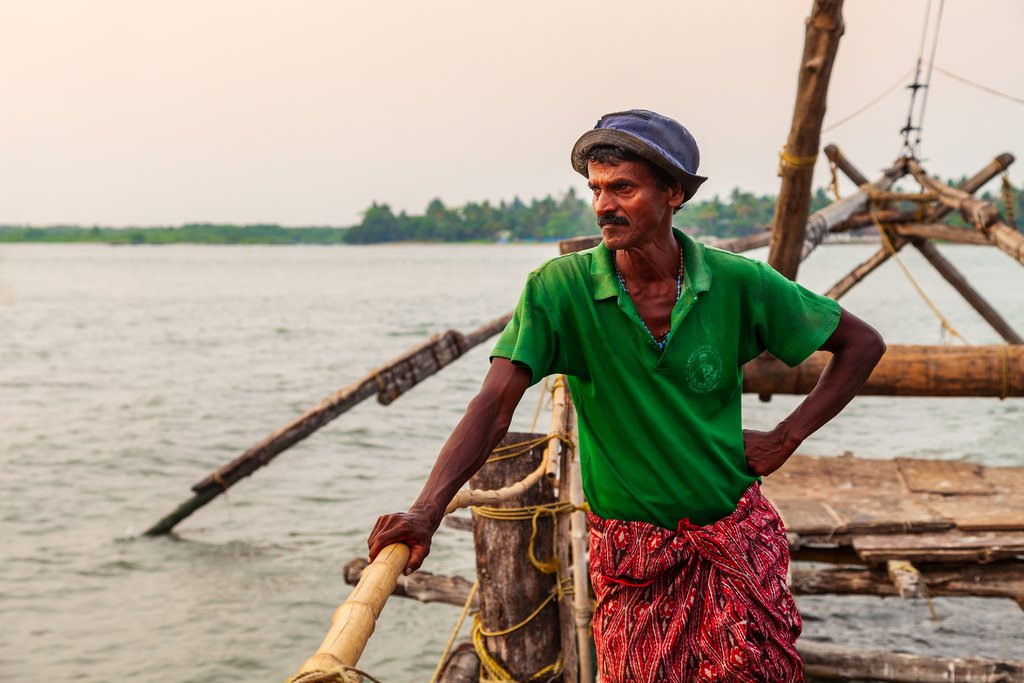 Fishermen, Fort Cochin, Cochin, India