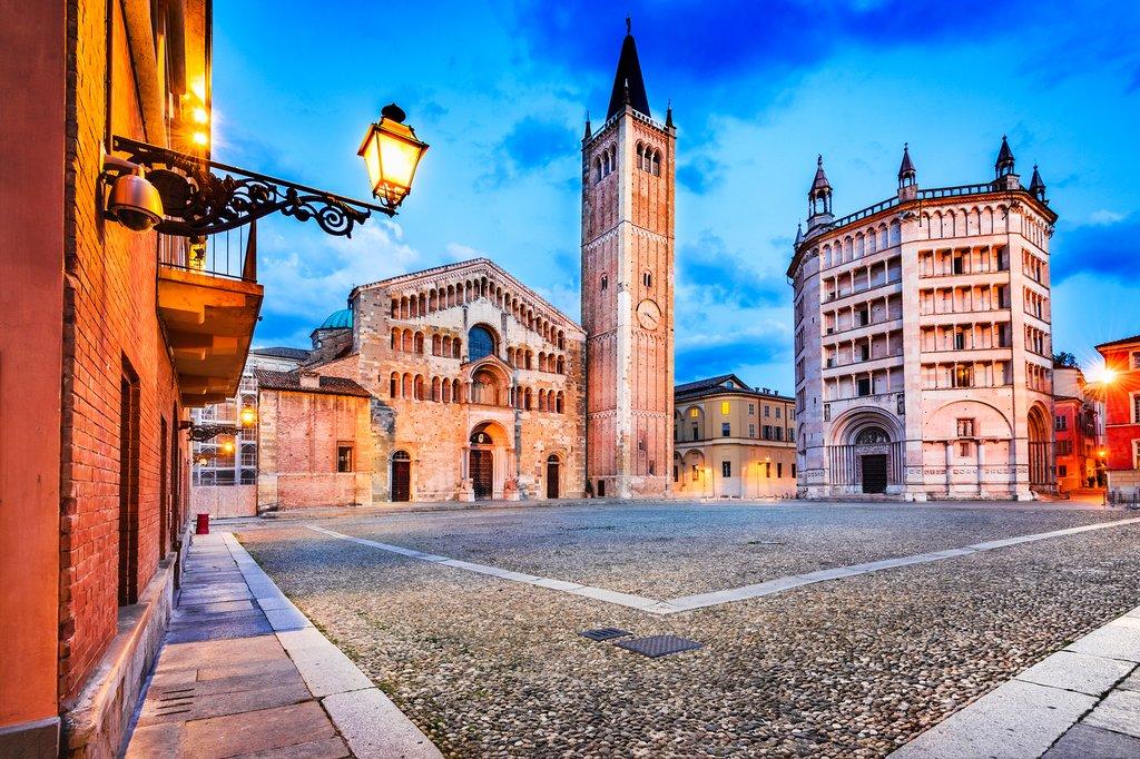 Piazza del Duomo in Parma, Italy