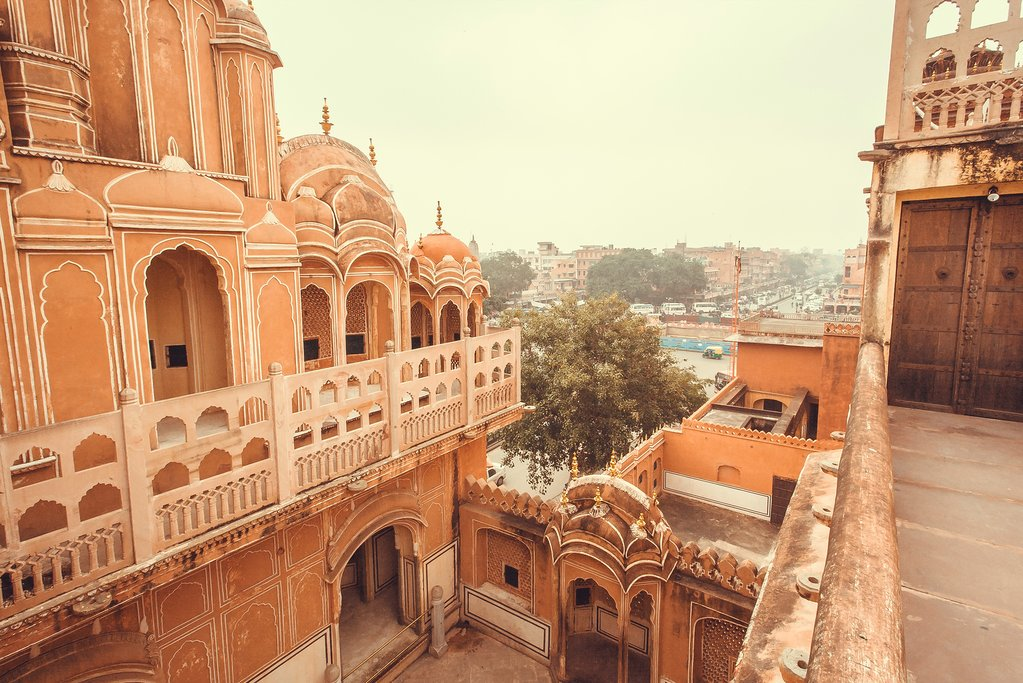 Jaipur's famous Palace of the Winds was built to let the royals see onto the street below