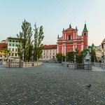 Prešeren Square and the Franciscan Church of the Annunciation