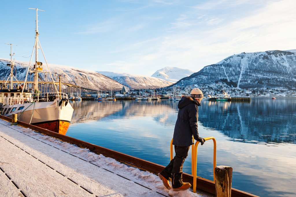 Return to Tromsø after your night in the wilderness