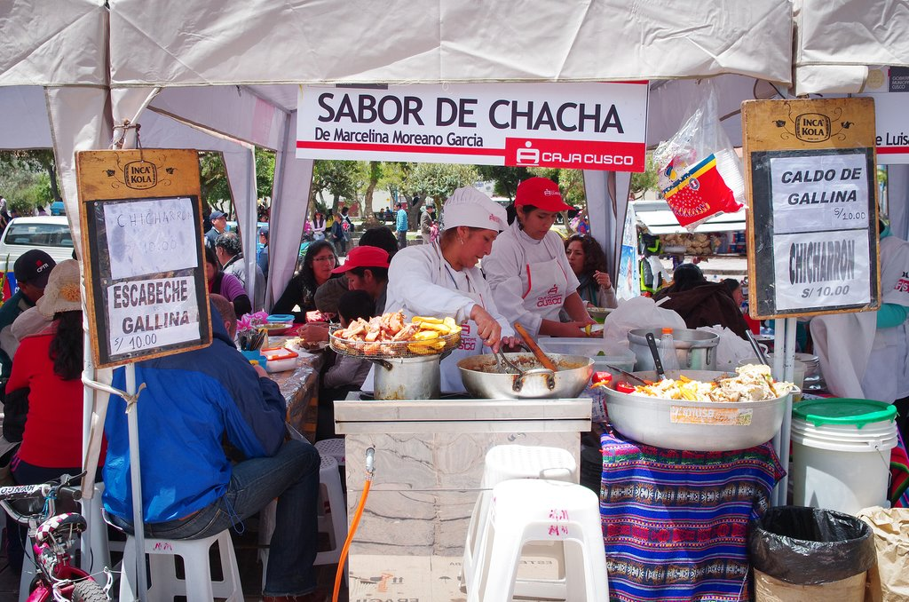 Street food is very popular in Cusco