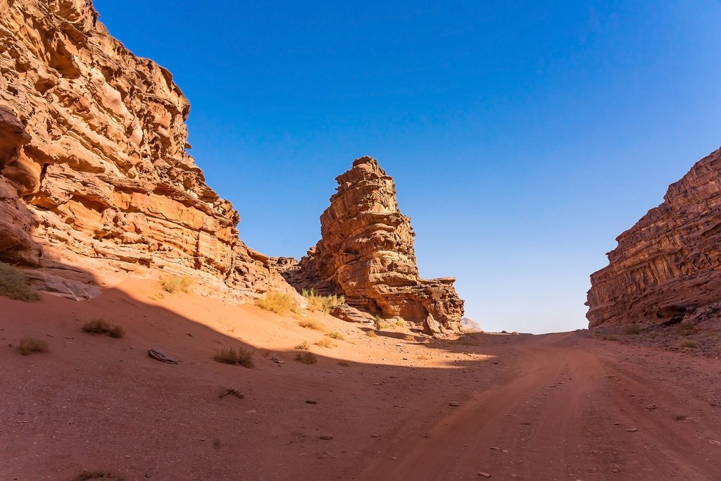 Red Mountains in Wadi Rum